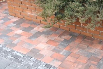 Тротуарная плитка Колор-микс Квадрат 100х100х60
