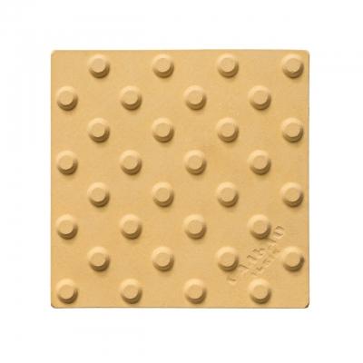 Плитка тактильна полиуретановая 420х420х3мм Конус (предупреждающая)