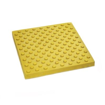 Плитка тактильна бетонная 500х500х60мм Конус (предупреждающая)