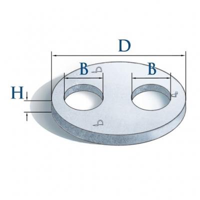 Крышка кольца 3ПП20-2.2 (два отверстия)