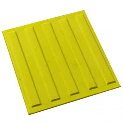Плитка тактильна бетонная 500х500х55мм Полоса (направляющая)
