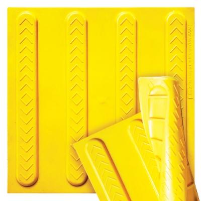 Плитка тактильна полиуретановая самоклеющаяся 400х400х8мм Полоса (направляющая)