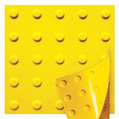 Плитка тактильна полиуретановая самоклеющаяся 420х420х3мм Конус (предупреждающая)