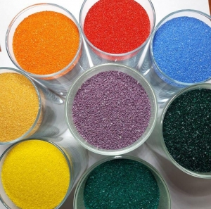 Песок кварцевый окрашеный
