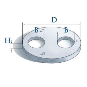 Крышка кольца 2ПП25-2.2 (два отверстия)