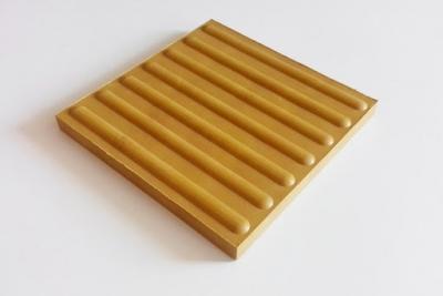 Плитка тактильна полиуретановая 420х420х3мм Полоса (направляющая)